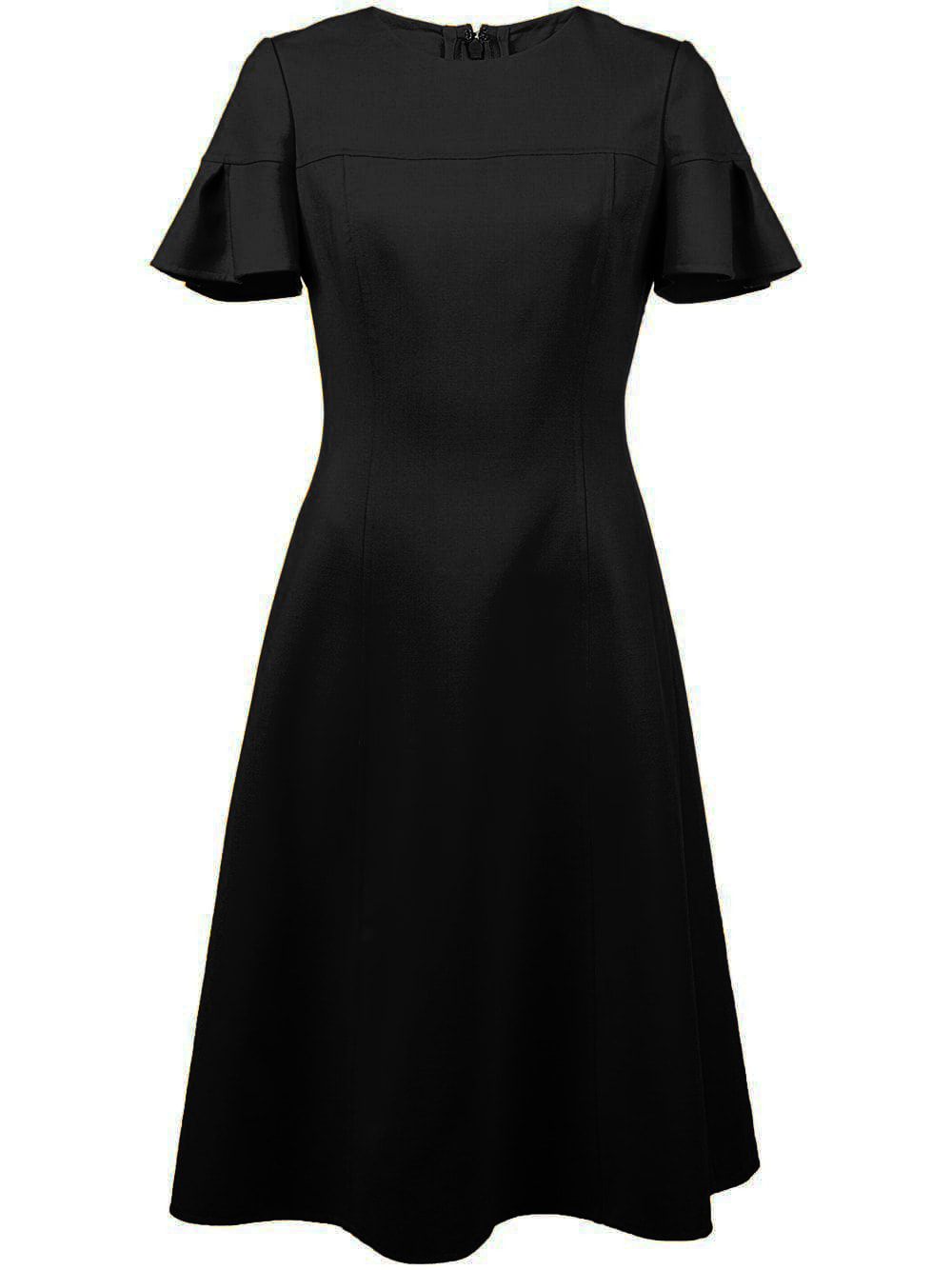 Carolina Herrera black flutter sleeve dress