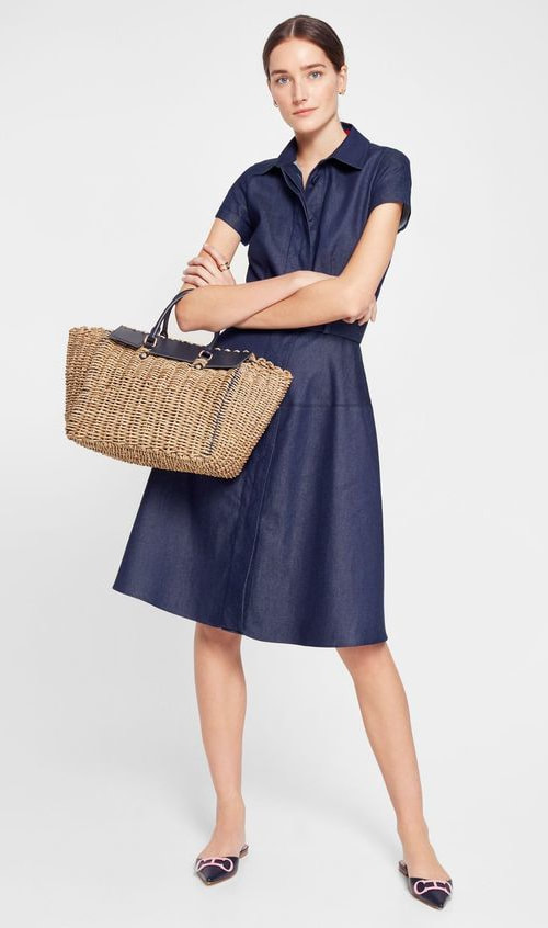 CH Carolina Herrera denim shirt dress from SS19 collection