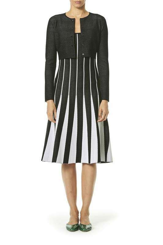 Carolina Herrera Resort 2019 striped dress