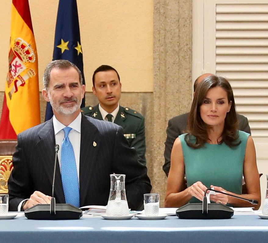King and Queen of Spain chair board meeting of the Princess of Asturias Foundation