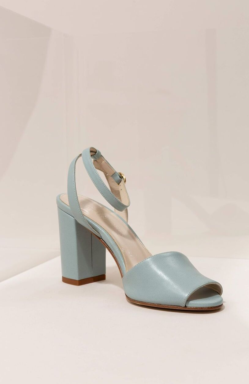 Mint & Rose 'Arlena' sandals in 'adriatico blue'