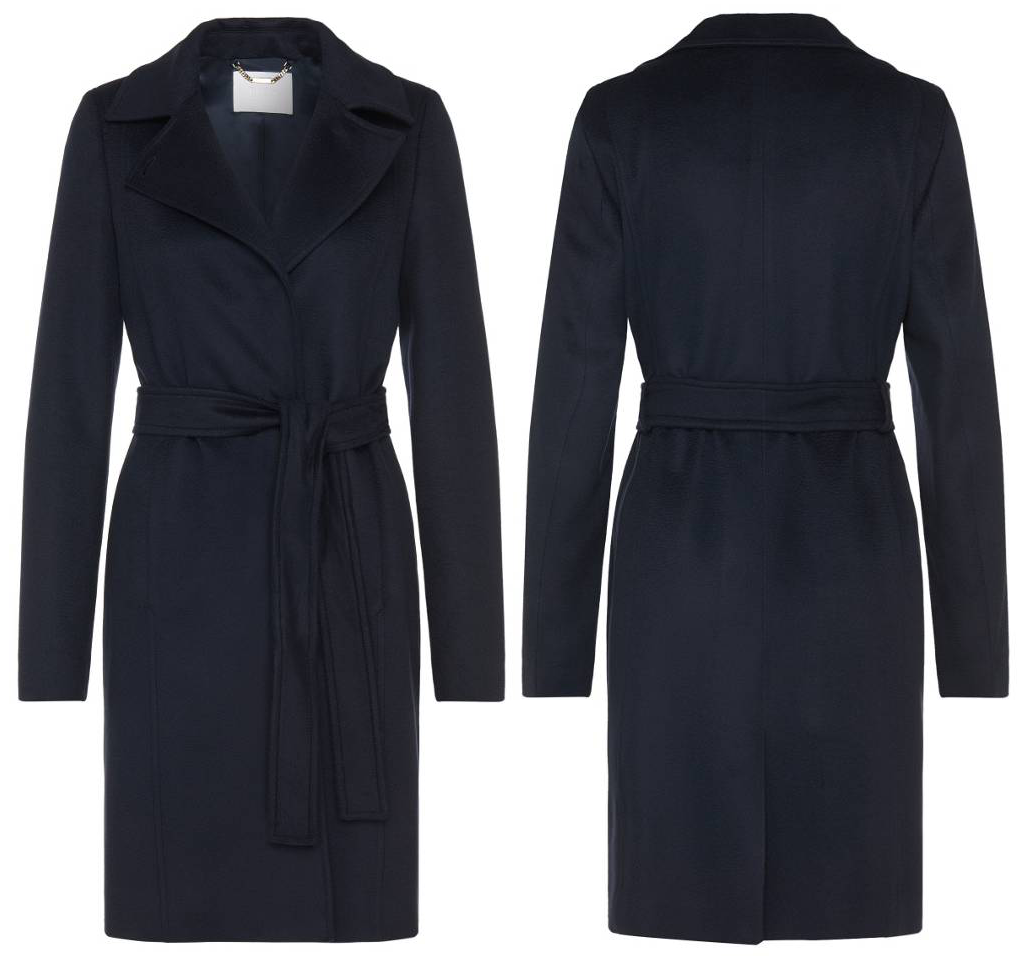 Hugo Boss 'Canika1' Belted Wool Coat