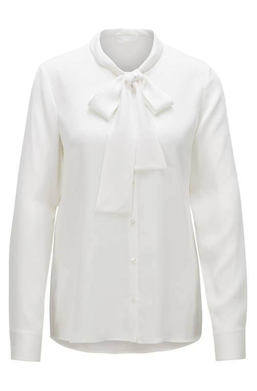Hugo Boss Bibosa blouse in crêpe de Chine