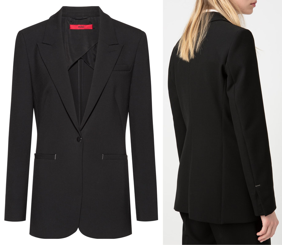 Hugo Boss 'Alitas' black single-button jacket in double-faced stretch fabric