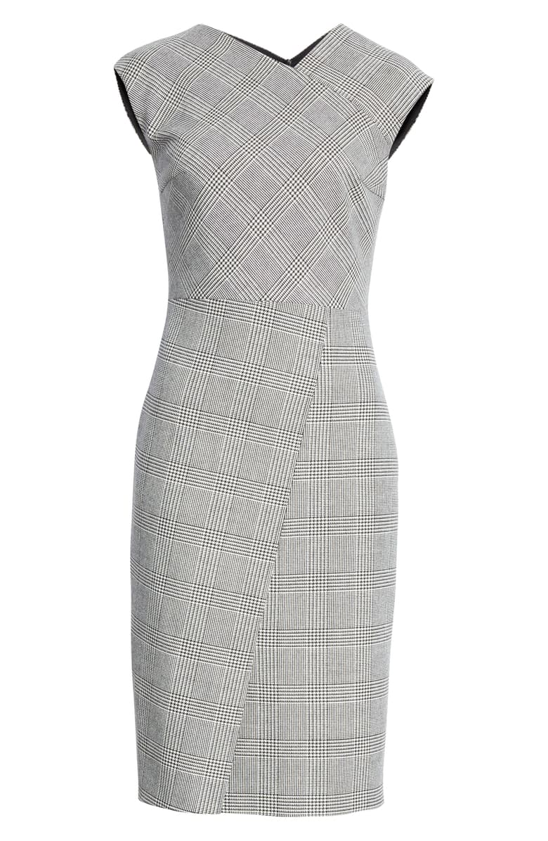 Hugo Boss 'Dechesta' Glen Plaid Sheath Dress