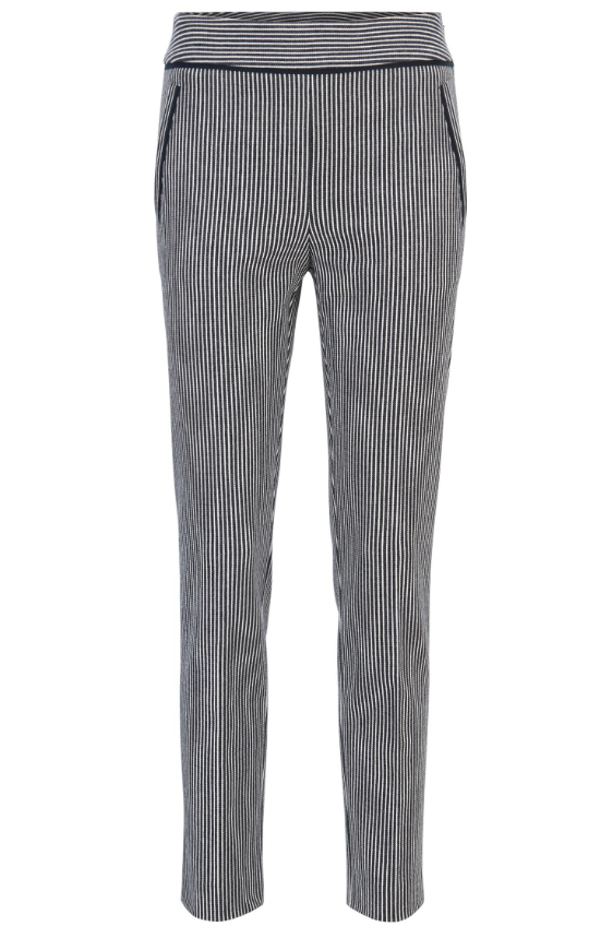 Hugo Boss denim stripe cropped pants