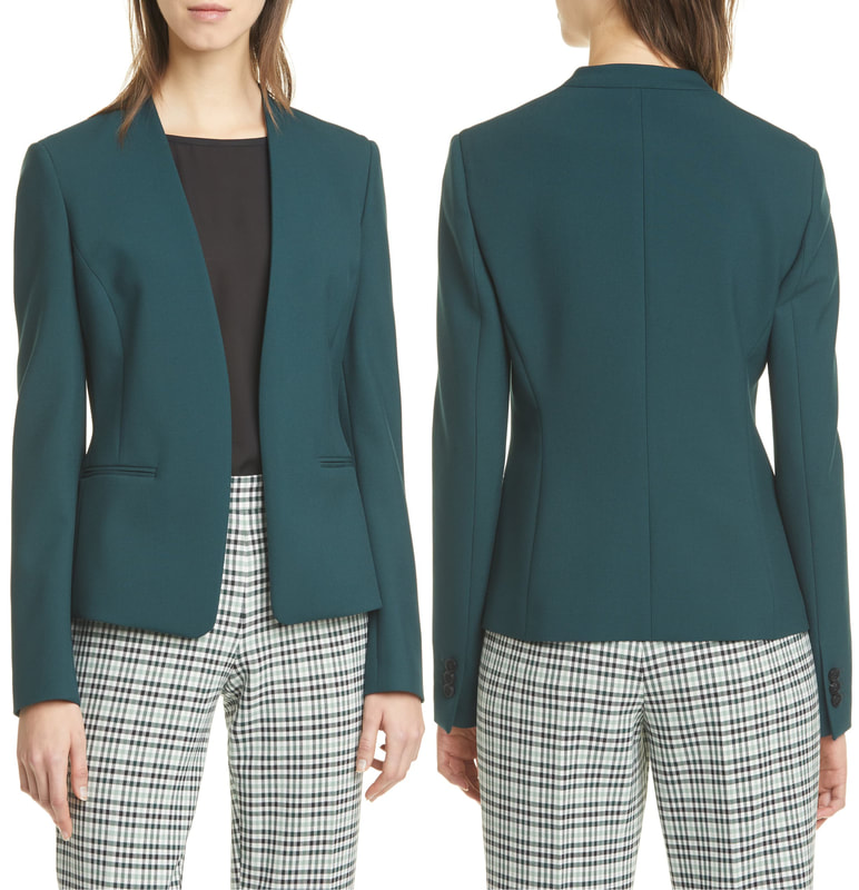 Hugo Boss Jalesta Open Front Jacket in Pine Green