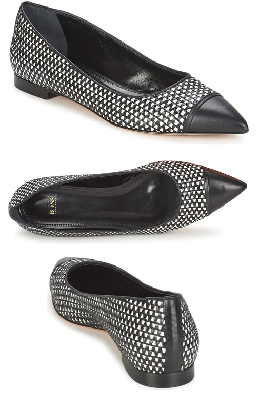 Hugo Boss Plica pointed toe flats