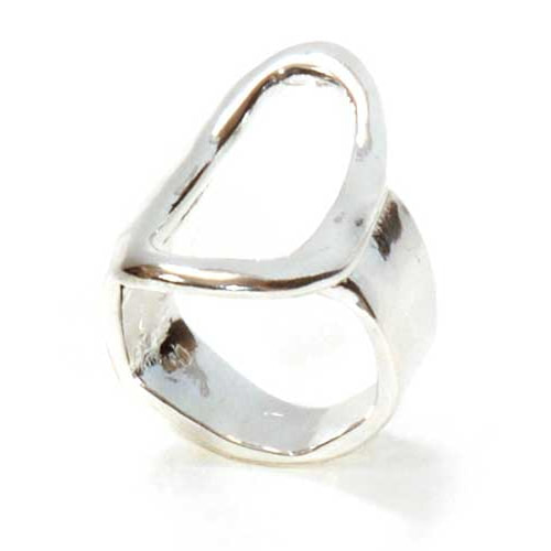 Karen Hallam sterling silver signature ring