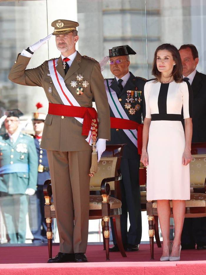 The King and Queen of Spain presided over the act of commemoration for the 175th Anniversary of The Civil Guards