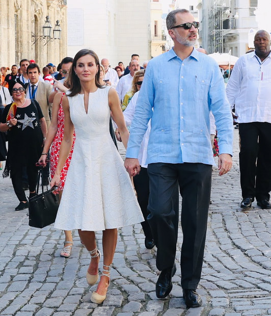 King Felipe and Queen Letizia of Spain tour the streets of Old Havana, Cuba