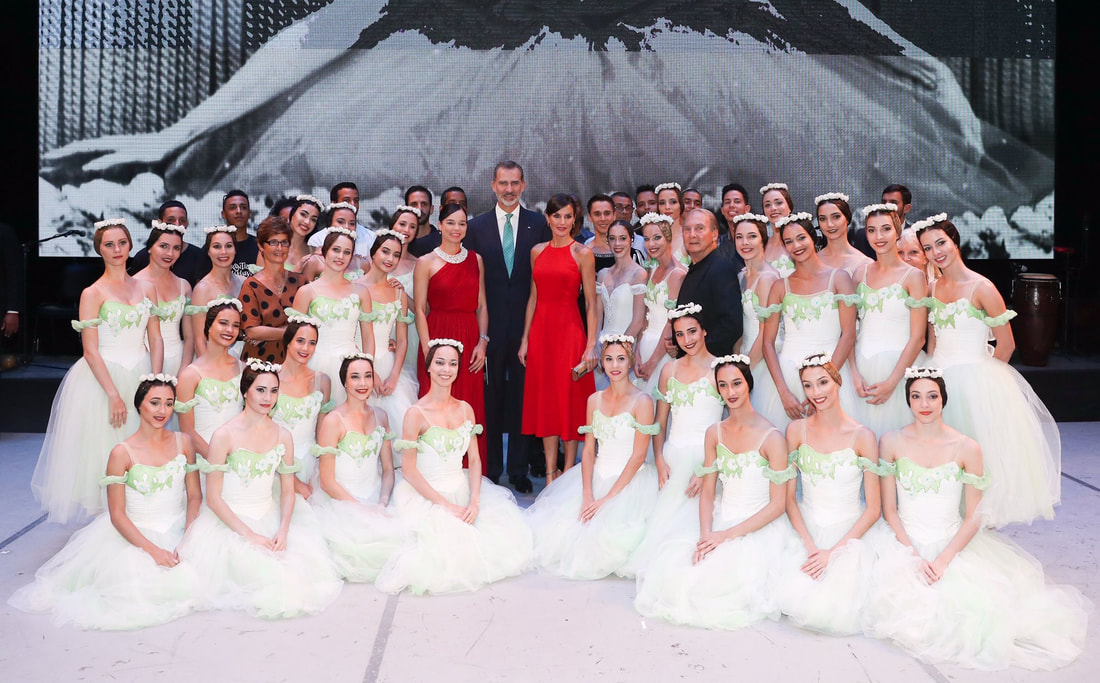 King and Queen of Spain attend a Ballet Gala at the Gran Teatro de La Habana by the Cuban National Ballet.