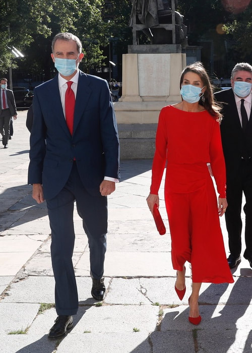 King Felipe VI and Queen Letizia attend launch of 'Spain For Sure' campaign at Museo Nacional del Prado in Madrid om 18 June 2020