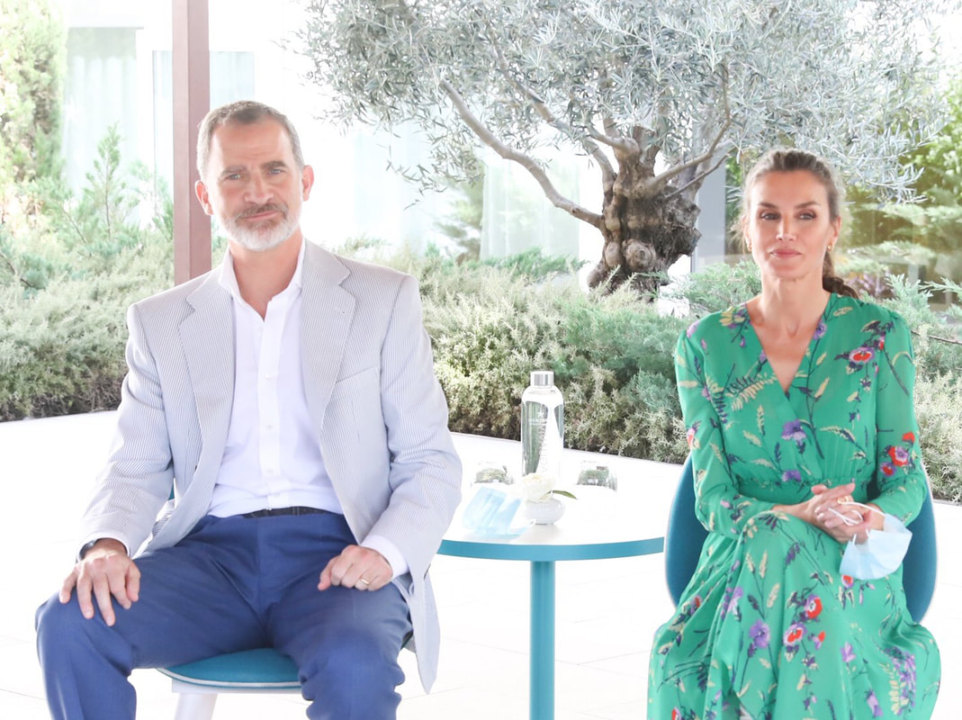 King Felipe VI and Queen Letizia attend meeting at Iberostar Cristina Hotel in Palma on 25 June 2020
