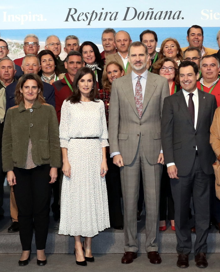 King Felipe and Queen Letizia presided over the Scientific Congress closing the commemoration of the 50th anniversary of the Doñana National Park at Teatro Salvador Távora, Almonte, Huelva