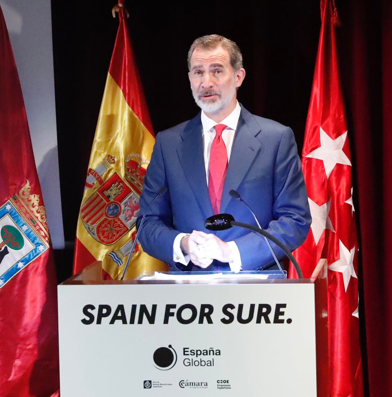King Felipe VI launches 'Spain For Sure' campaign at Museo Nacional del Prado in Madrid om 18 June 2020