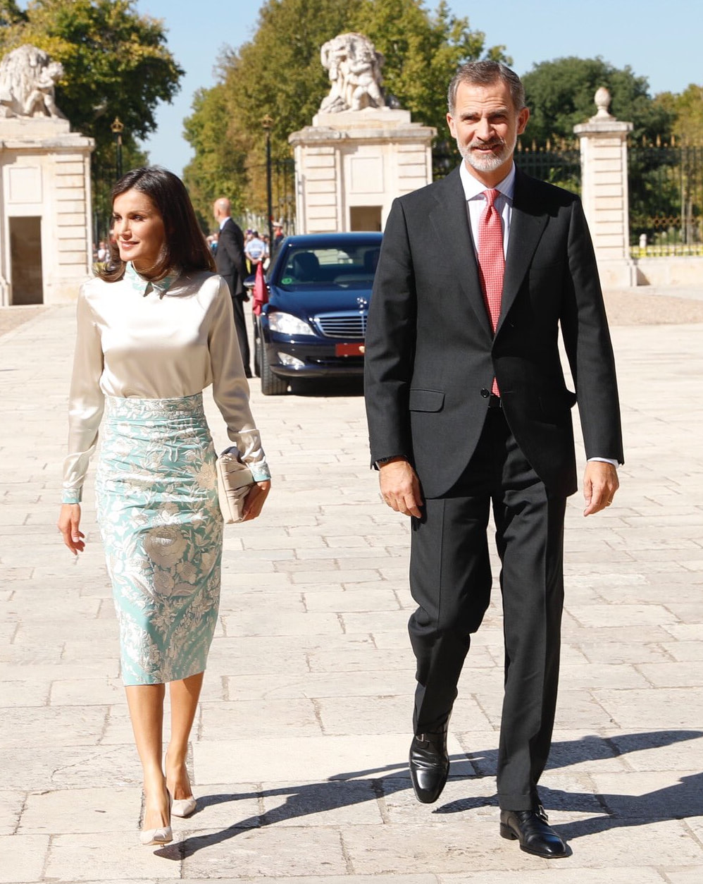 King Felipe & Queen Letizia attend meeting of the Board of Trustees of the Cervantes Institute 2019