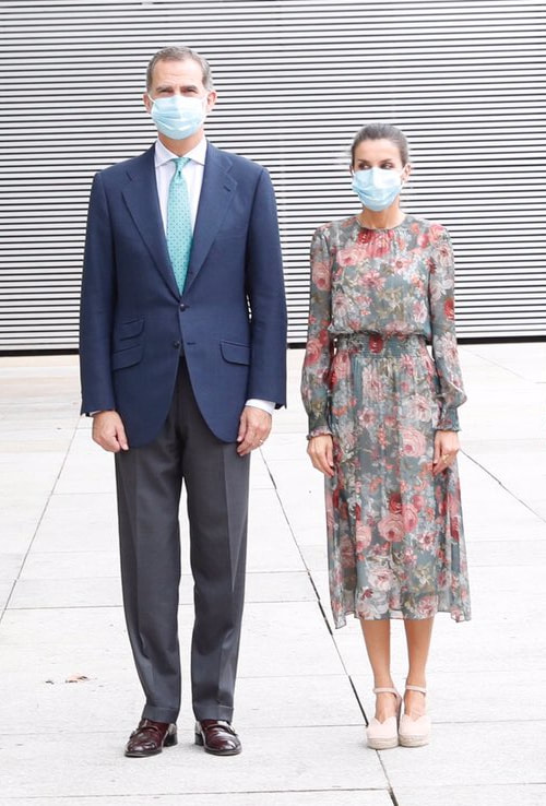 King Felipe Vi and Queen Letizia of Spain visited Basque Country on 17 July 2020