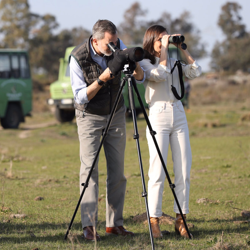 King Felipe VI and Queen Letizia tour the Doñana National Park