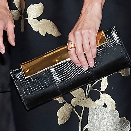 Magrit Black & Gold Alice clutch