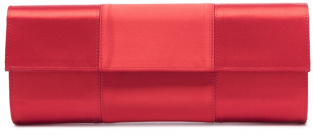 Magrit 'Mary' red satin clutch bag