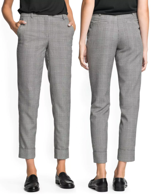 Mango 'Kennedy' Prince of Wales check trousers