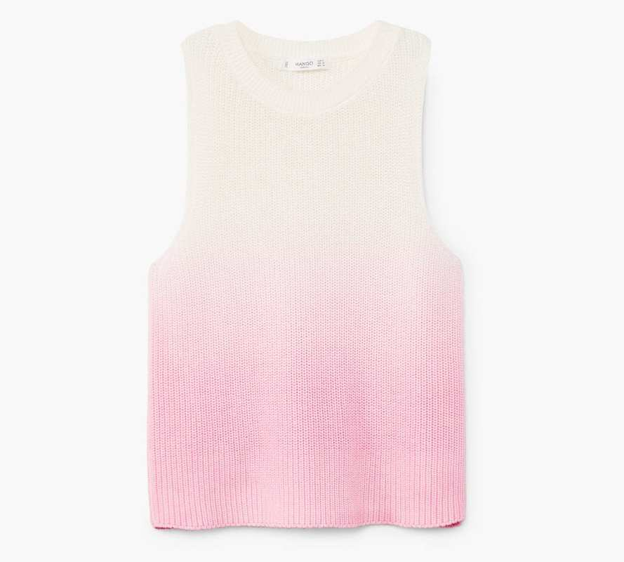 Mango Pink Ombre top