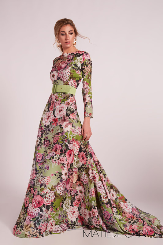 Matilde Cano floral gown Summer 2020 collection