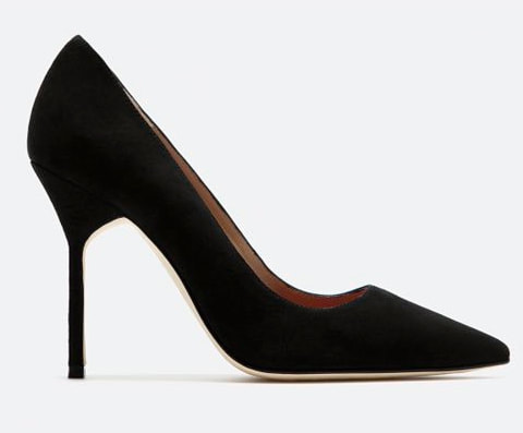 CH Carolina Herrera black suede pumps