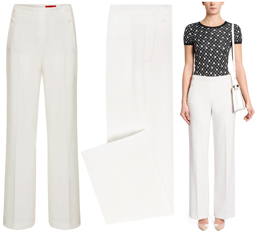 HUGO Hugo Boss 'Hotaru' Stretch Crepe Wide Leg Trouser