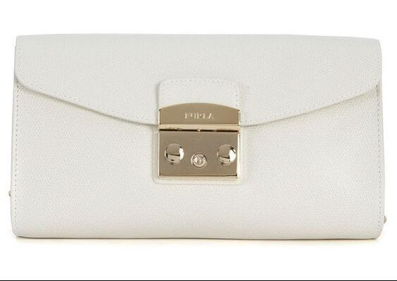Furla 'Metropolis' white leather shoulder bag