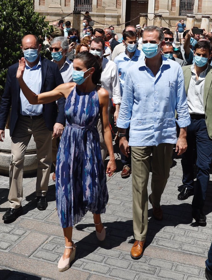 King Felipe VI and Queen Letizia make day trip to Andalusia visiting the cities of Seville and Córdoba on 29 June 2020.