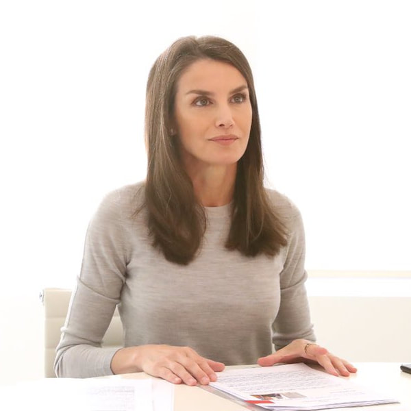 Queen Letizia held a video conference with the National Federation of Sports Facilities and Gyms