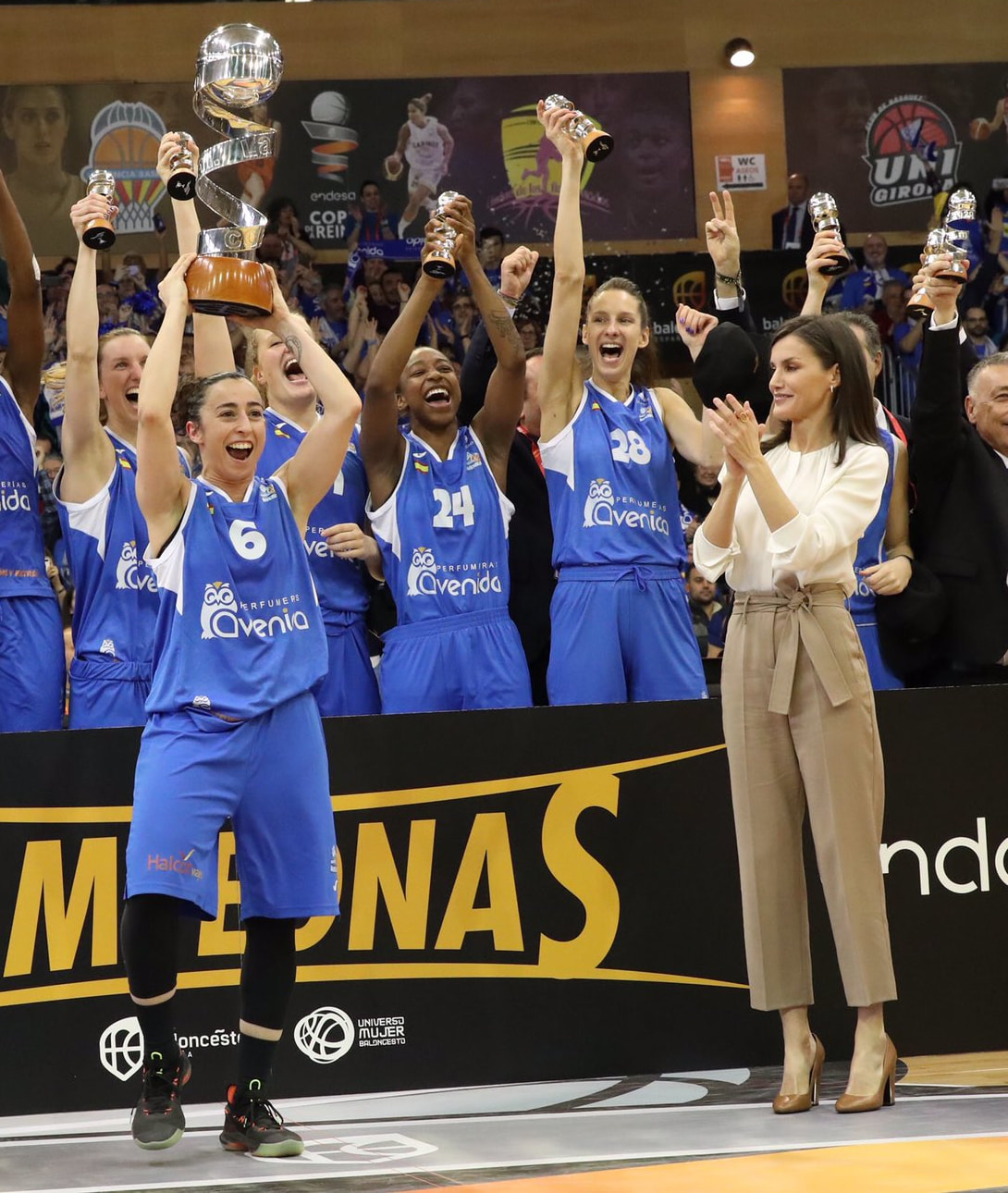 Queen Letizia attends Copa de la SM Queen's Cup basketball 2020