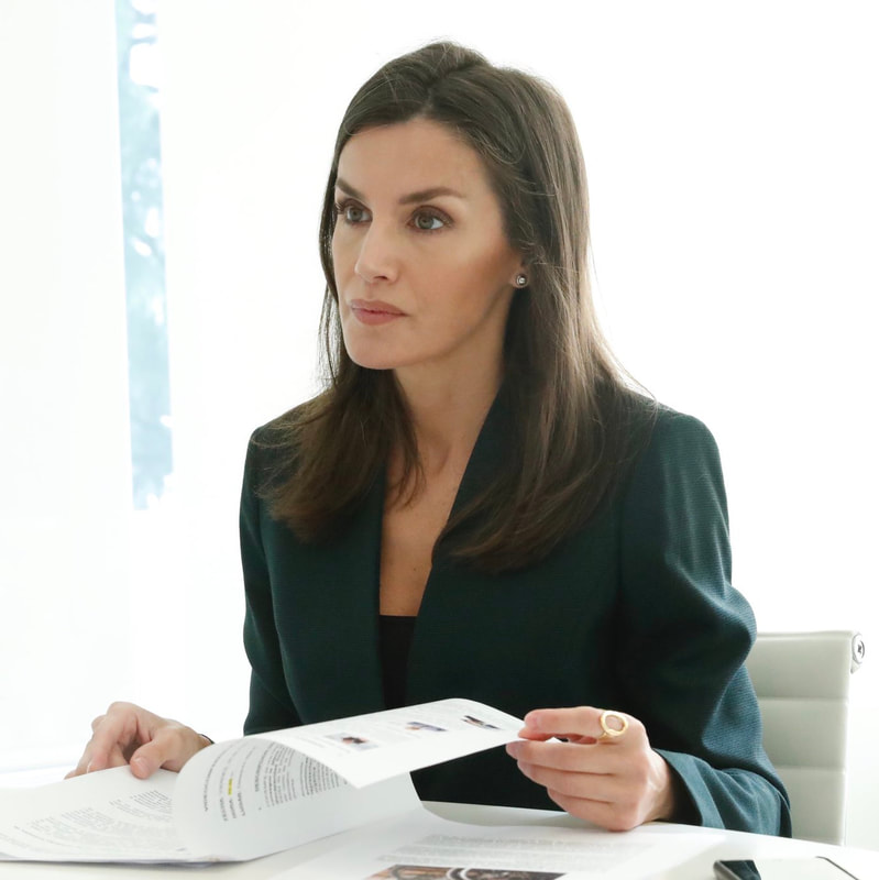 Queen Letizia held a video conference with the heads of the Confederación Española de Personas con Discapacidad Física y Orgánica COCEMFE (Spanish Confederation of People with Physical and Organic Disabilities) on 29 May 2020