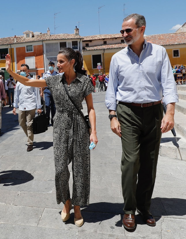 King Felipe VI and Queen Letizia visit Cuenca in Castilla-La Mancha on 2 July 2020