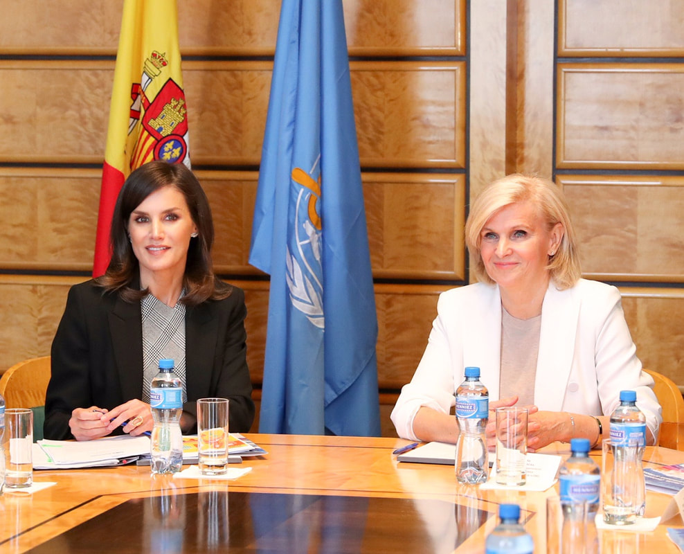 Queen Letizia attends presentation of the 'Global Energy and health platform' at the World Health Assembly held at the headquarters of World Health Organization in Geneva