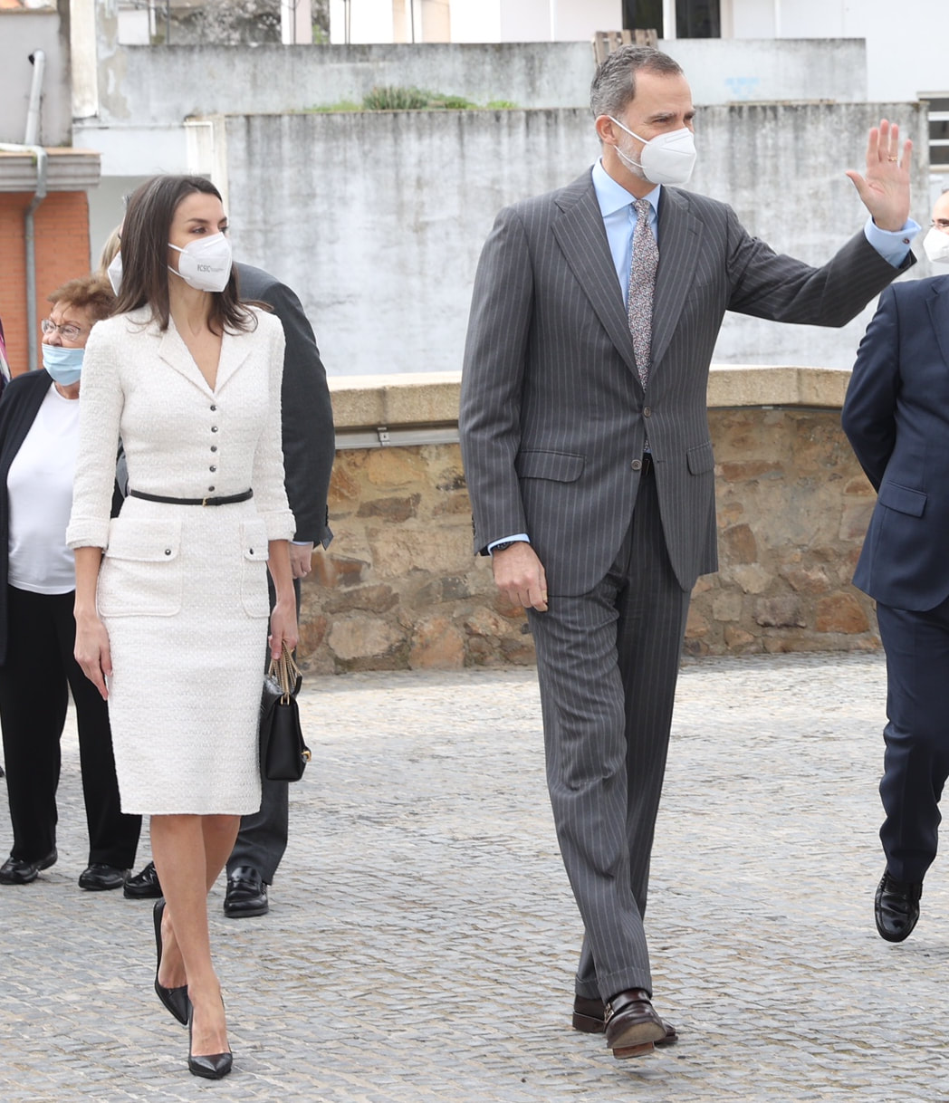 King Felipe VI and Queen Letizia of Spain attended the inauguration Helga de Alvear Contemporary Art Museum on 25 February 2021