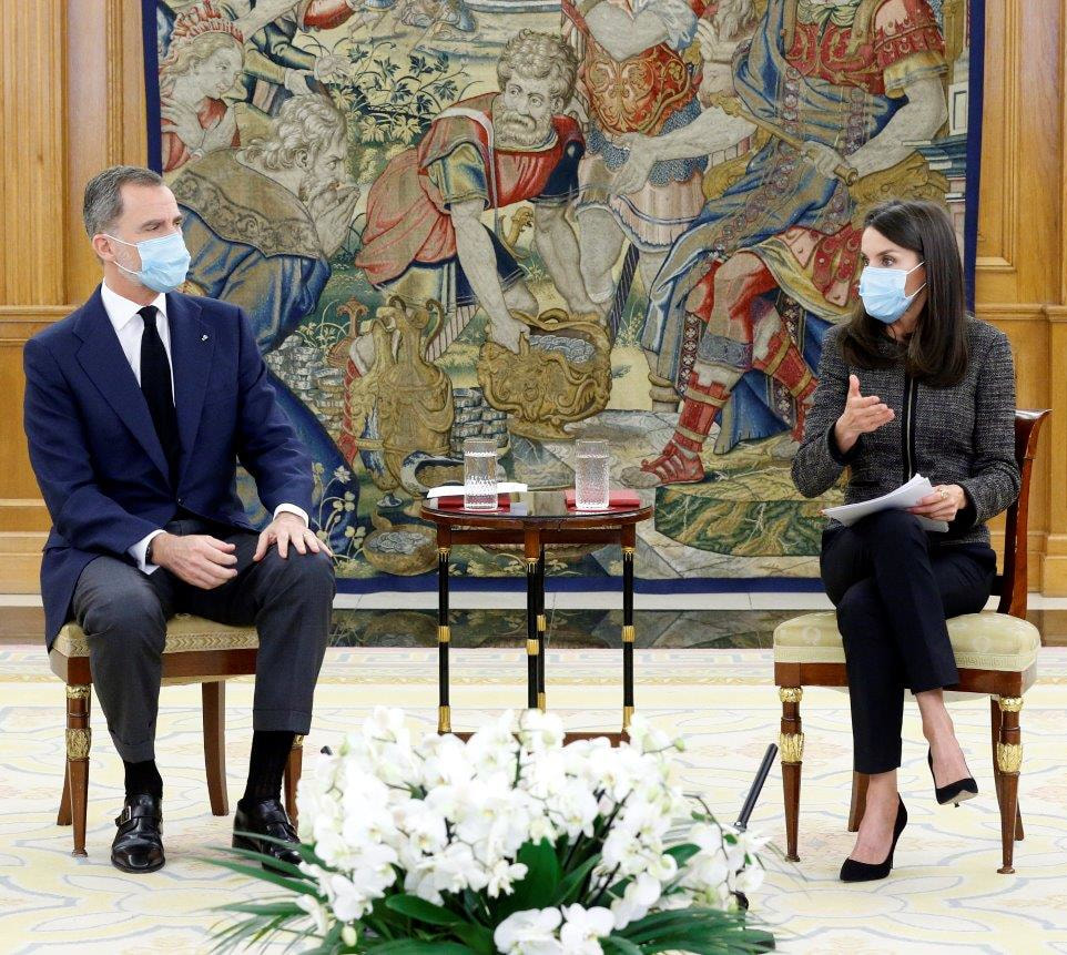 The King and Queen of Spain held an open dialogue with Young Talents at the Palace of Zarzuela on 28 May 2020