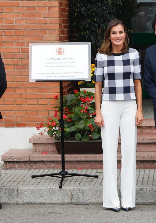 Queen Letizia opens 2018/2019 academic year Baudilio Arce primary school