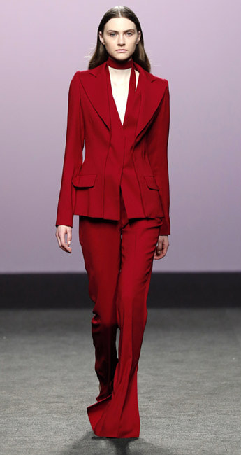 Roberto Torretta Red Pant Suit - Fall/Winter 2017/18 collection