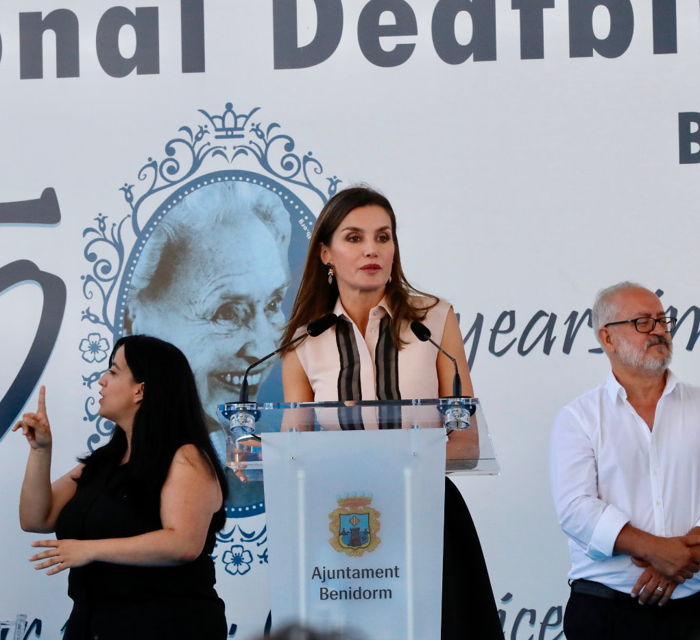 Queen Letizia attends International Deafblind Day in Benidorm