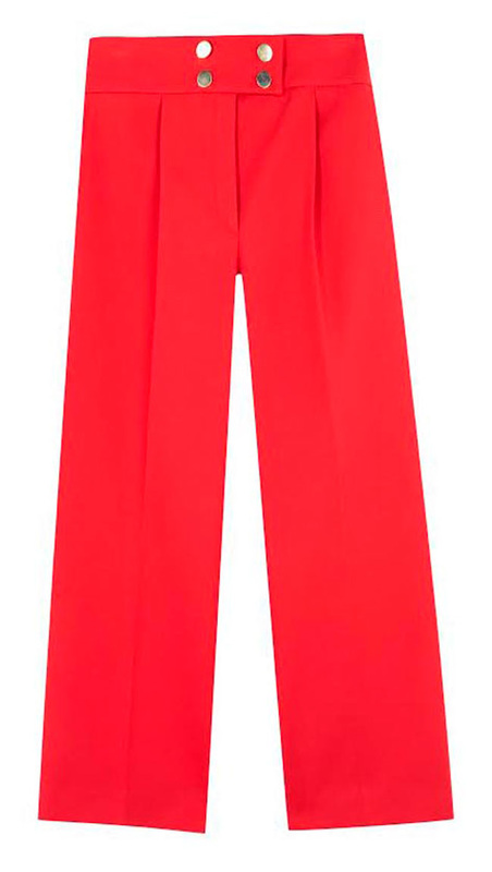 Uterque red button culottes
