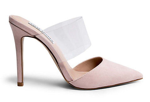Steve Madden Plaza mules in blush suede