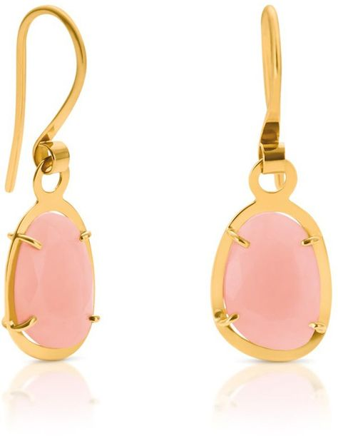 Tous 'Dinah' pink opal earrings